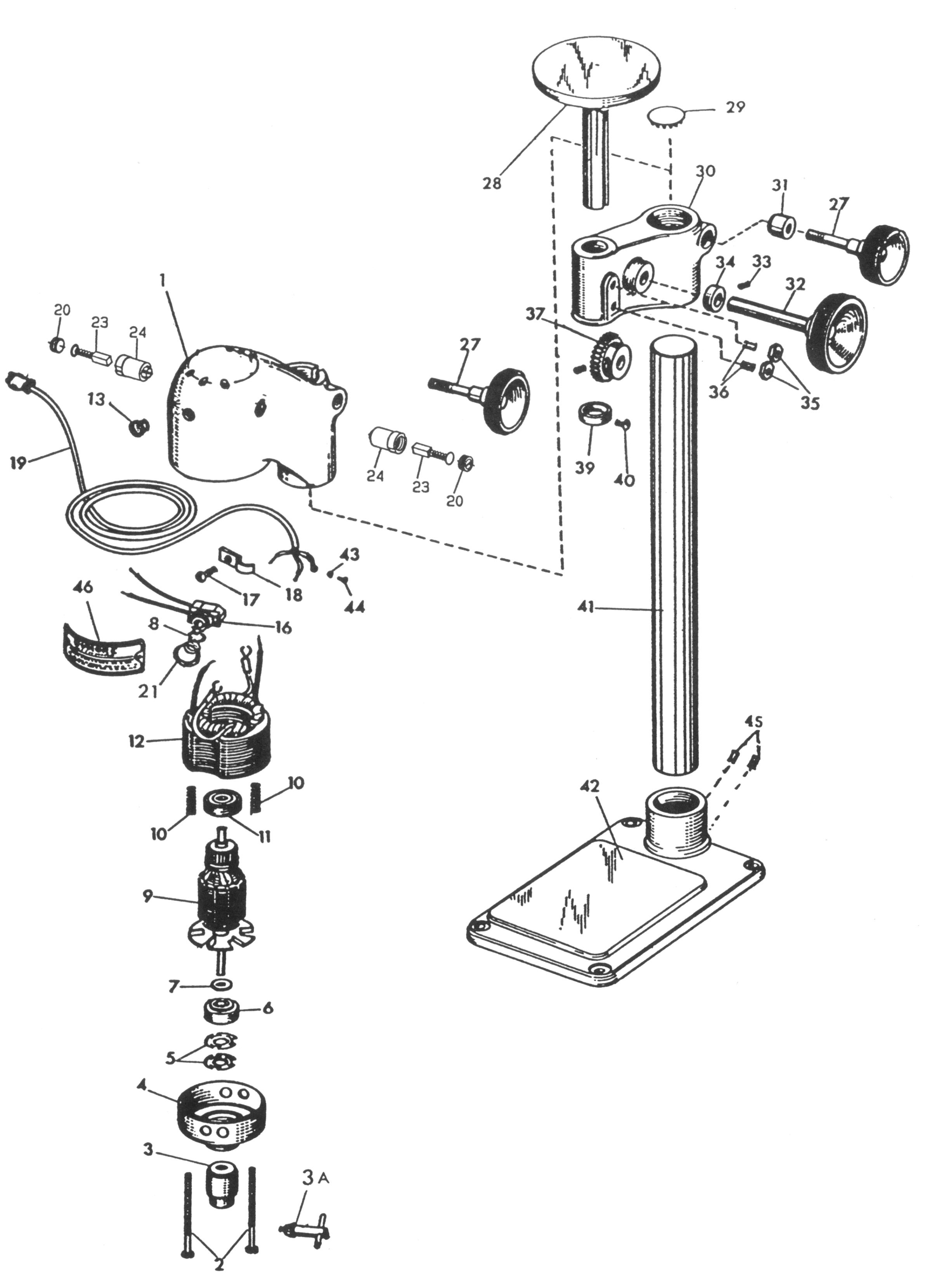sensitive drill press parts